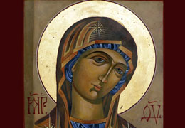 Head of Mary Icon